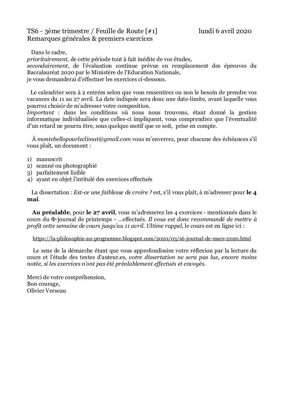 Aperçu du document TS6 feuille de route [#1].pdf - page 1/1