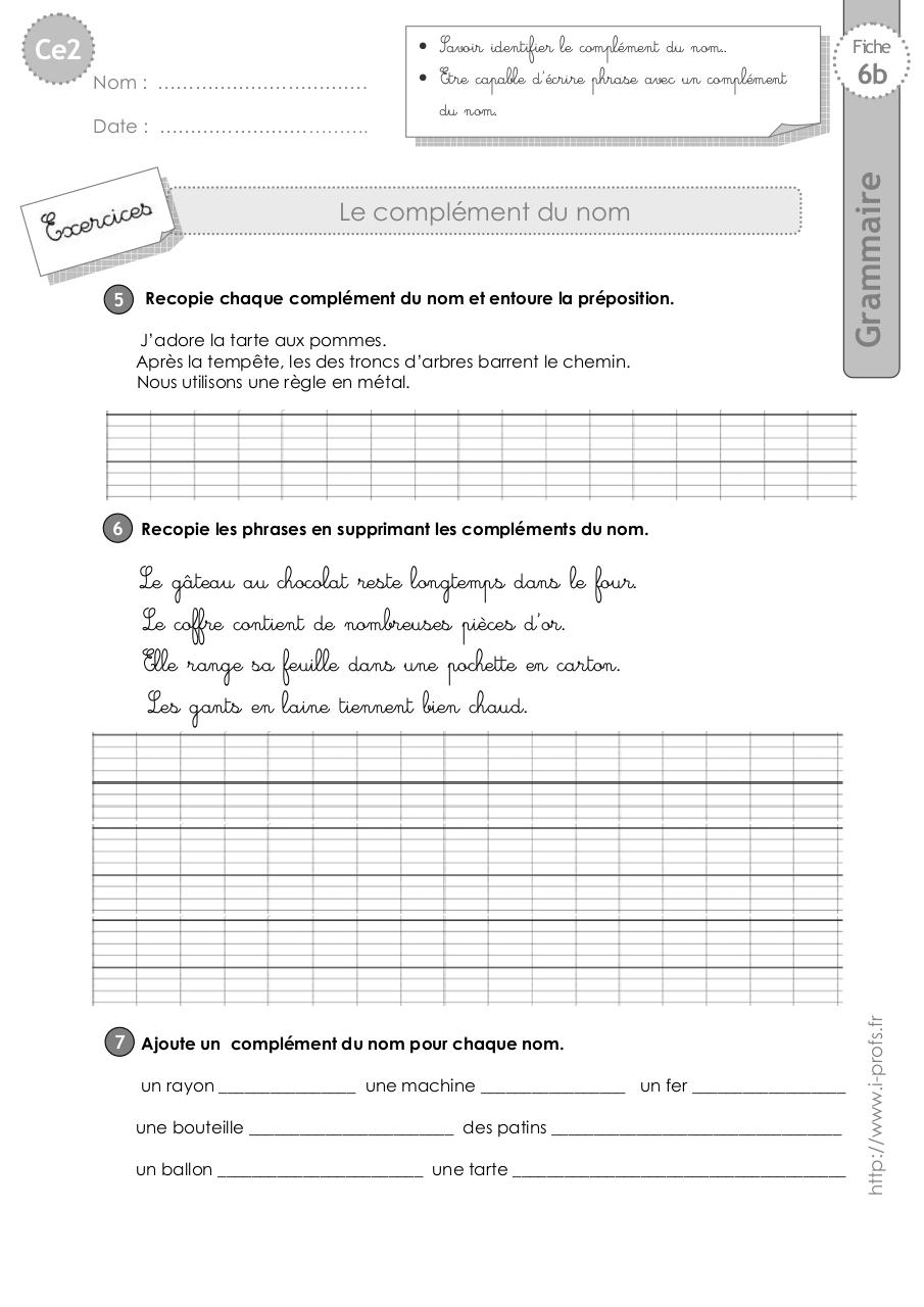 ce2-exercices-complement-nom.pdf - page 2/4